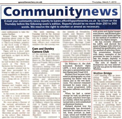 Gloucestershire Gazette 7th March